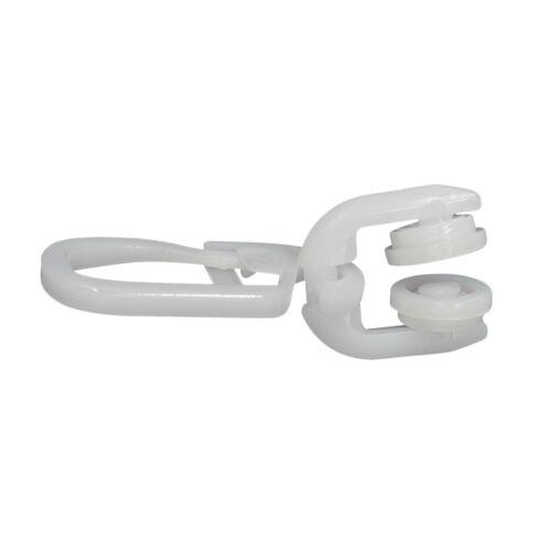 DELFRA 100 T-Rollen mit Faltenhaken weiss perfekt für T-Schienen