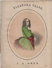 "ANTIQUE SHEET MUSIC - ""ELEANORA VALSE"" - J.ARTHUR OWEN - MITFORD - PITSHILL"