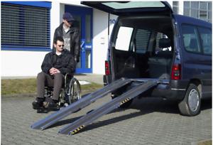 LUKOS Rollstuhlrampe Auffahrhilfe Altec Typ RAS-F faltbar Länge 3000 mm mit Rand