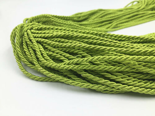5//10 Meters 3mm green twisted cord rope braid string craft jewellery Craft