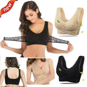 Womens-Seamless-Front-Cross-Lace-Bra-Adjustable-Sports-Bras-Wireless-Side-Buckle