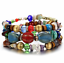 Boho-Multilayer-Natural-Stone-Bead-Tassel-Pendant-Chain-Bracelet-Charm-Women-Set thumbnail 19