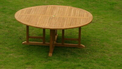 7 Piece Outdoor Teak Dining Patio Set 72 Quot Round Table 6
