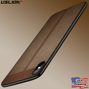 iPhone 8 X 6 7 Plus Slim Luxury Leather Skin Ultra Thin TPU Case Cover for Apple