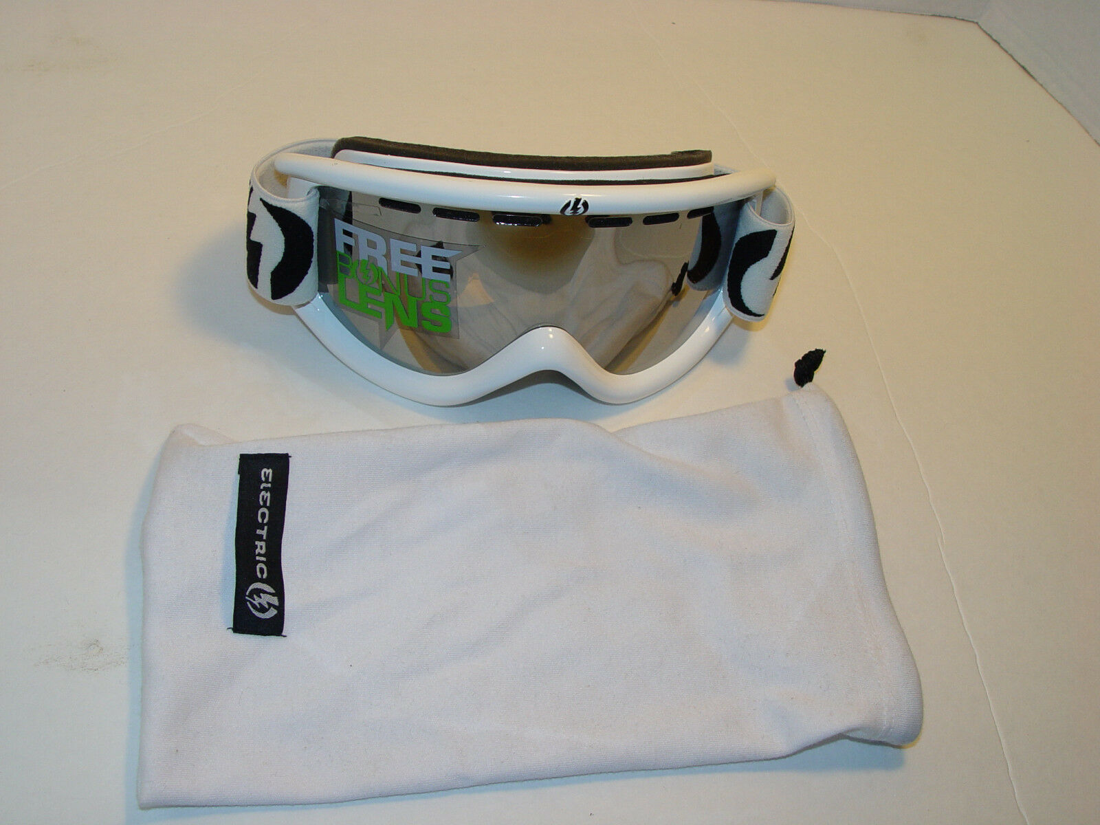 NEW Electric Visual WHITE EG.5s Snow Goggles Winter Ski Spherical  Polycarb Lens  first-class service