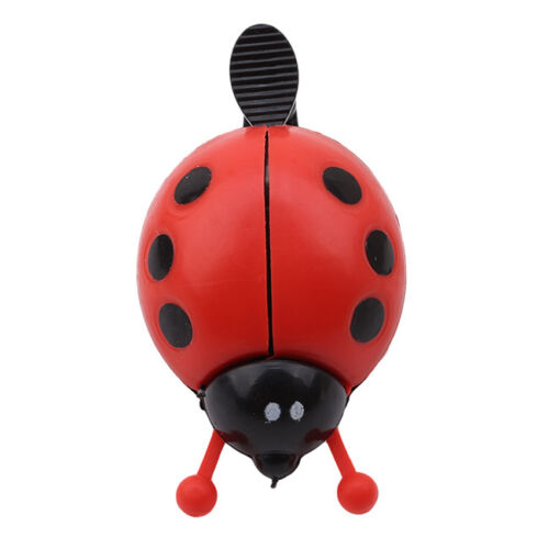 Kid Lovely Ladybug Beetle Ring Bell For Cycling Bicycle Bike Ride Horn Alarm HZ