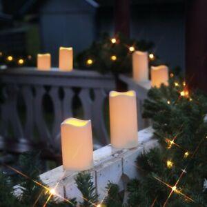 3-X-LED-Kerze-fuer-Aussen-mit-Timer-Flackernde-Flammenlose-Kerzen-Outdoor-Candle