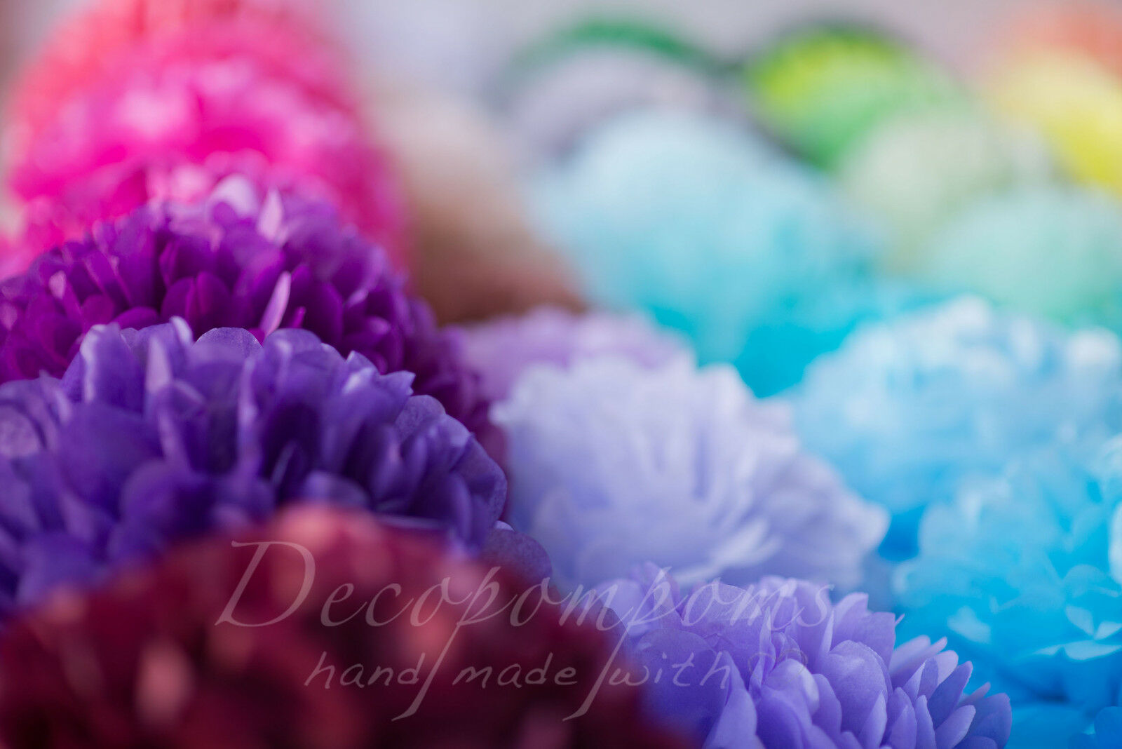 30 tissue paper pompoms - 3 Größes - wedding party decorations - multi Farbe