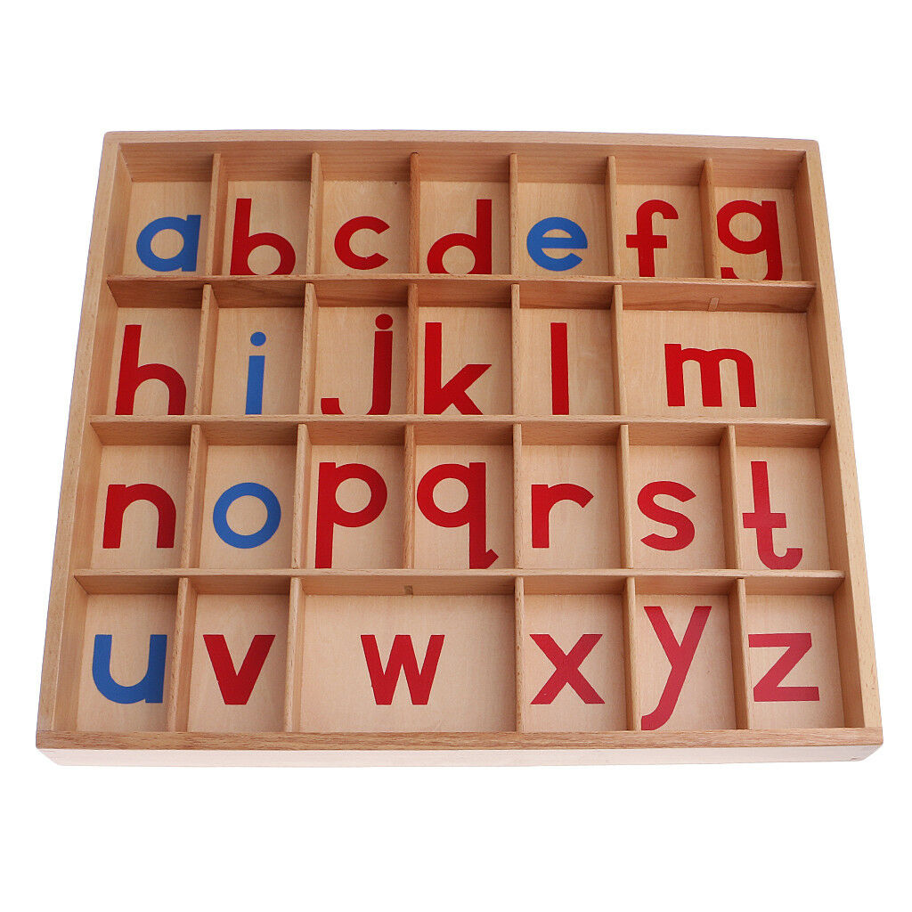 Montessori Wooden Movable Alphabet a-z with Box for Kids Early DevelopSiet