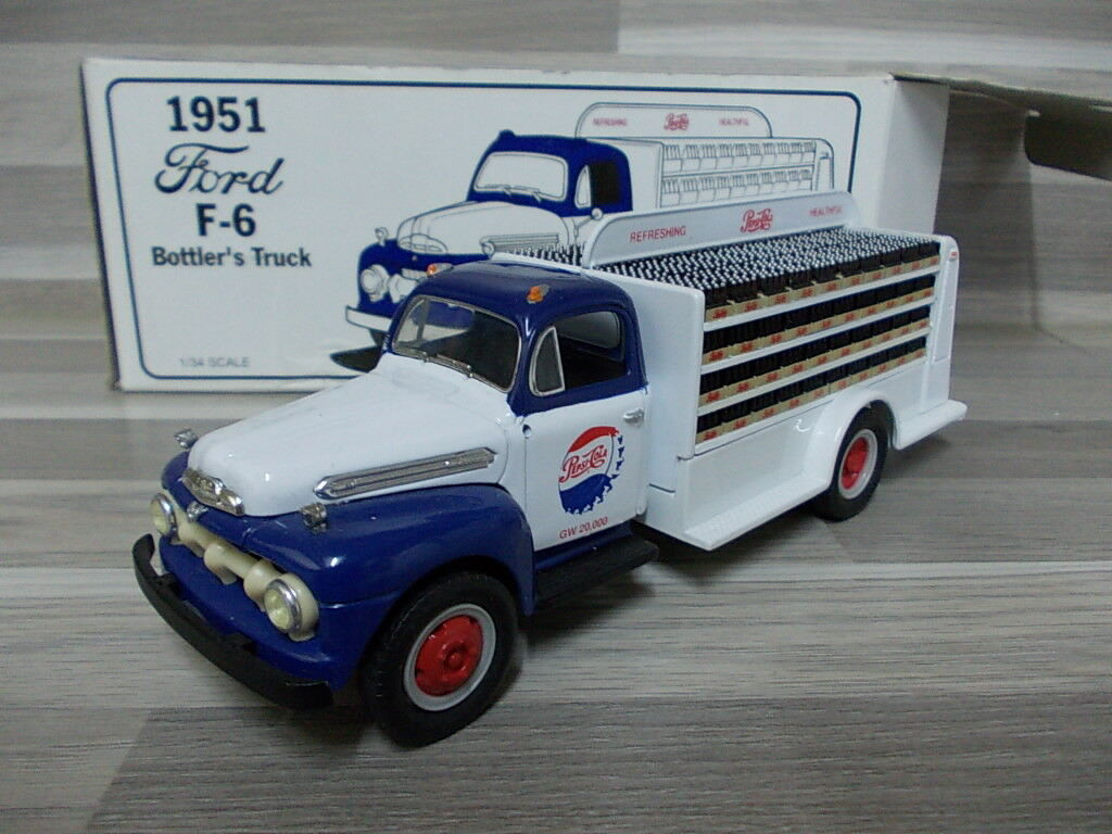First Gear 1 34 - FORD f-6 Bottler'S CAMION 1951  Pepsi Cola