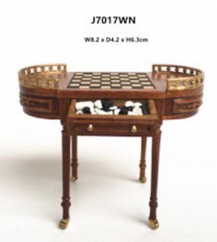 1:12 scale miniature dollhouse chess table JBM J7017