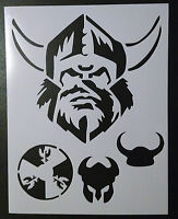 Vikings Viking Head Helmet Horns Shield 8.5 X 11 Stencil Fast Free Shipping