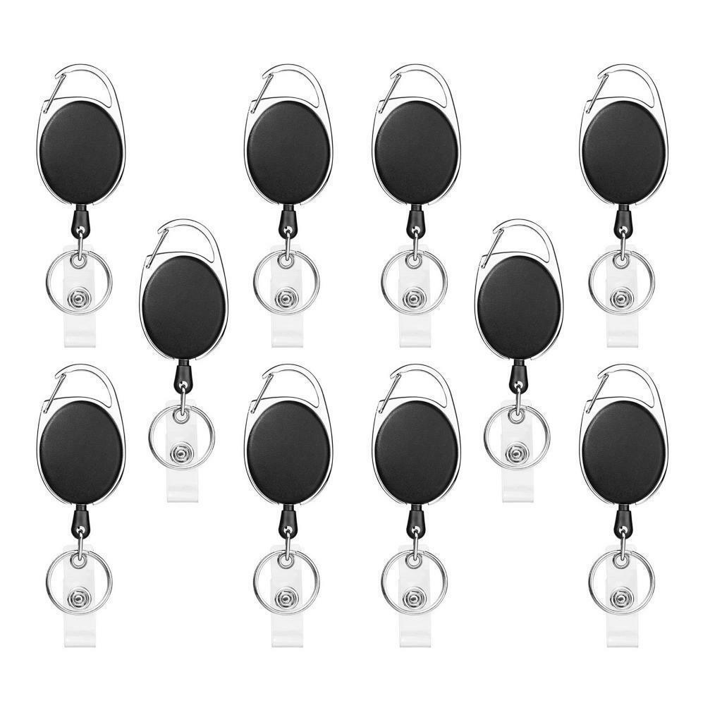 Porte-badges rétractables résistants de paquet de 5/10 avec l'agrafe de bobine