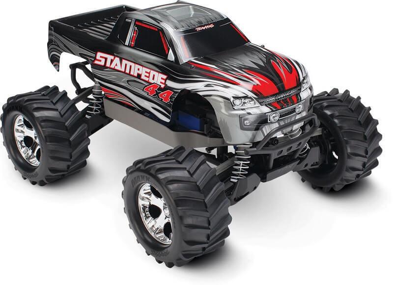 Traxxas Stampede 4x4  camión cepillado listo para correrListo Para Correr Plata 67054-1