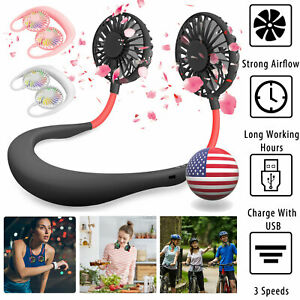 Portable-Dual-Cooling-Sports-Fan-USB-Rechargeable-Neckband-Lazy-Neck-Hanging-Fan