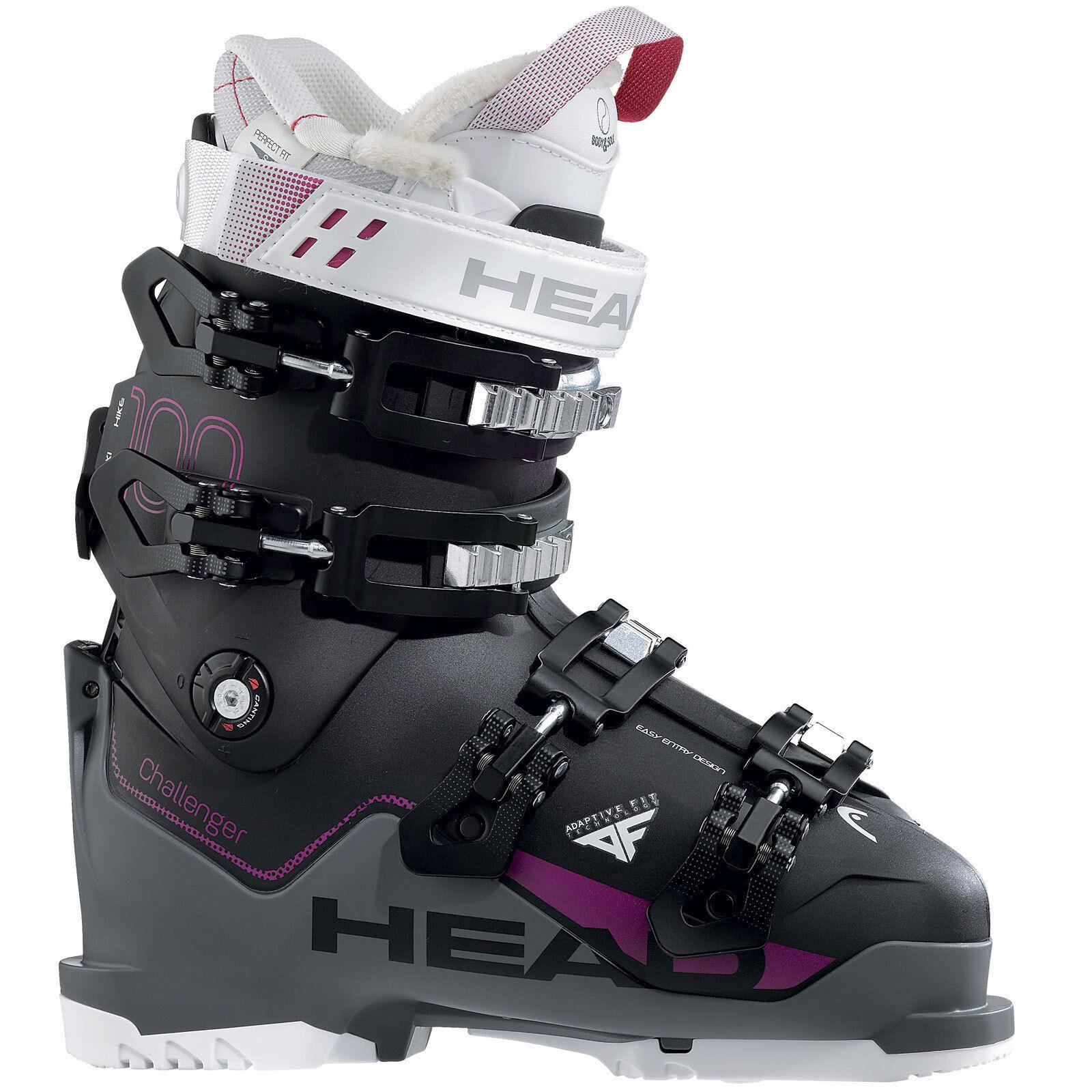 Head Challenger 100 W DaSie-Skischuhe SkiStiefel Skistiefel 4-Schnallen Frauen NEU