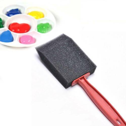 5pcs//set Black Foam Brush Sponge Plastic Handle Art Craft Painting 5 sizes//bag