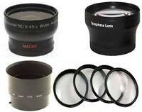 Wide Lens + Tele Lens + Close Up Set + Tube Bundle For Nikon Coolpix P530 & L830