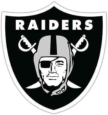 "Oakland Raiders NFL Football Car Bumper Locker Notebook Sticker Decal 4""X5"""