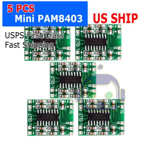 5pcs PAM8403 Mini 2 Channel Stereo 3W Class D Audio Power Amplifier Module Board
