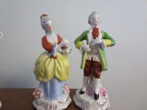 2 Vintage Made In Occupied Japan Victorian Figurines Ebay