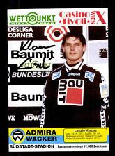 Laszlo Klausz Autogrammkarte Admira Wacker 1994-95 Original Signiert+A 148587