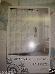 Image Is Loading New Coastal Collection Shower Curtain 70 X 72