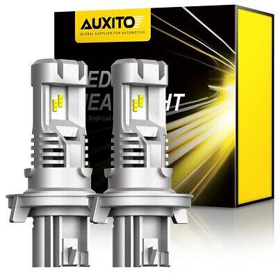 Pair CREE H13 9008 LED Headlights Kit Hi-Low Bulbs 6500K For Ford F150 2004-2014