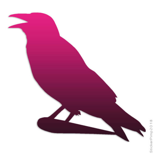 Size #2364 Perching Crow Magpie Raven Decal Sticker Choose Pattern