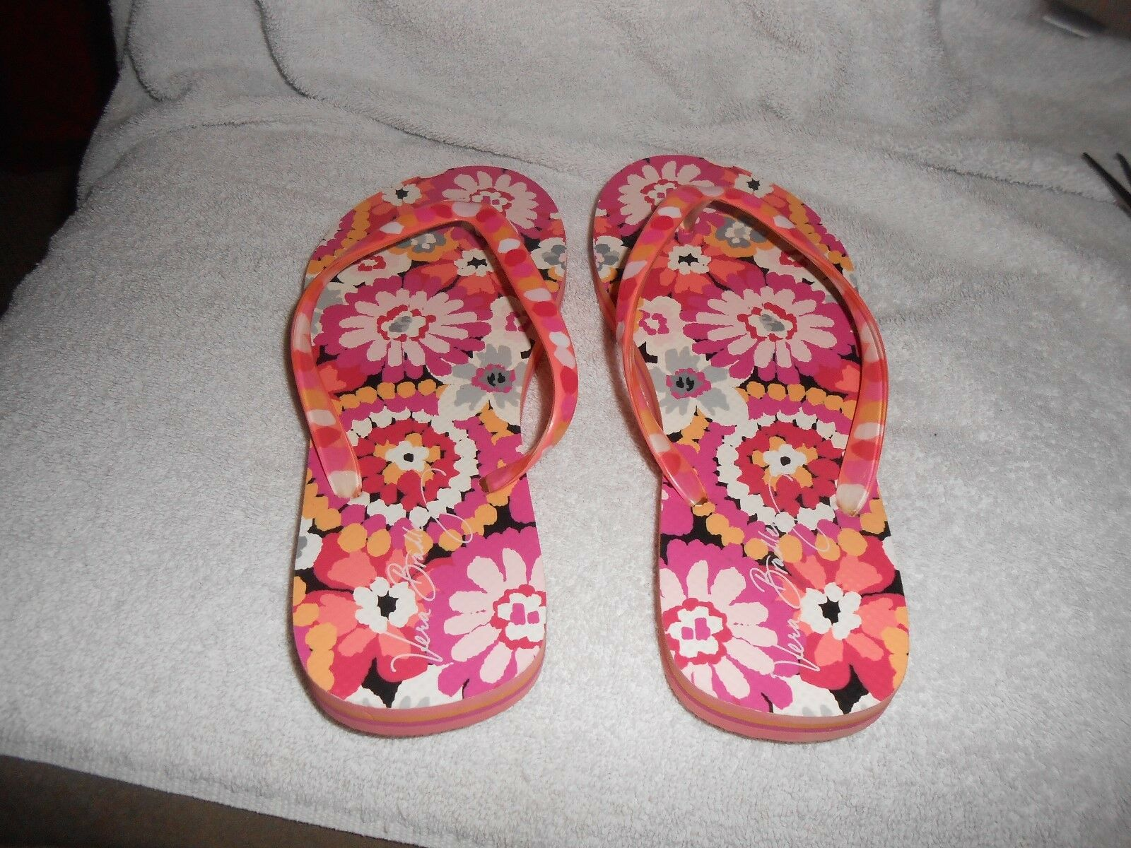 Mr/Ms Vera Bradley Pink Flip 7 flops Sz 6 / 7 Flip  Womens Big clearance sale Upper material Acknowledgement feedback NW410 c16ac9