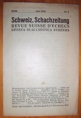 Ehrlich Schach Zeitung 1929 Schweiz Wasserdicht, StoßFest Und Antimagnetisch