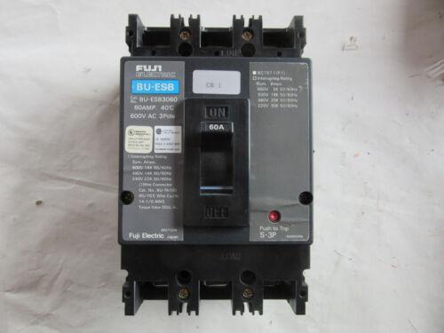Free Shipping Fuji BU-ESB3060 Circuit Breaker 3P 60A 600V With Trip VGC!!