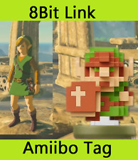 30th anniversary 8Bit Link NFC TAG ONLY Amiibo legend of Zelda Breath the Wild