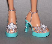 Barbie Doll Shoes My Scene Embellished Platform Heels Sandals