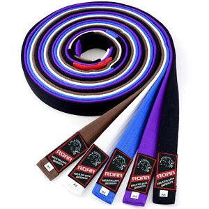 ROAR-BJJ-Gi-Belts-Jiu-Jitsu-MMA-Adult-Gi-Rank-Belt-A1-A2-A3-A4-Cotton-Material
