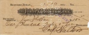 USA, 1931 First National Bank, obsolete bank check, GVF