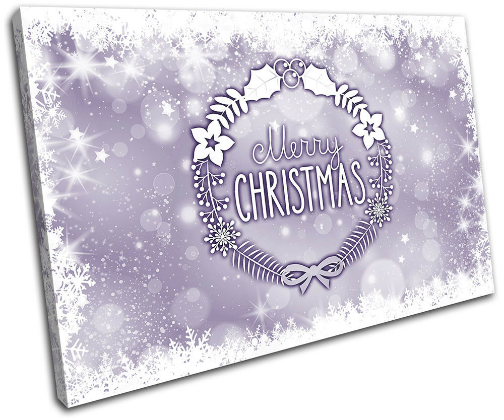 Christmas Decoration Wall Canvas ART Print XMAS Picture Gift Bokeh Chr 12 Purple Chr Bokeh 8fd7e6