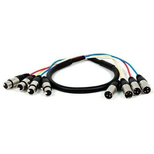 4-Channel XLR Male to XLR Female Snake Cable - 6 m (20 ft)