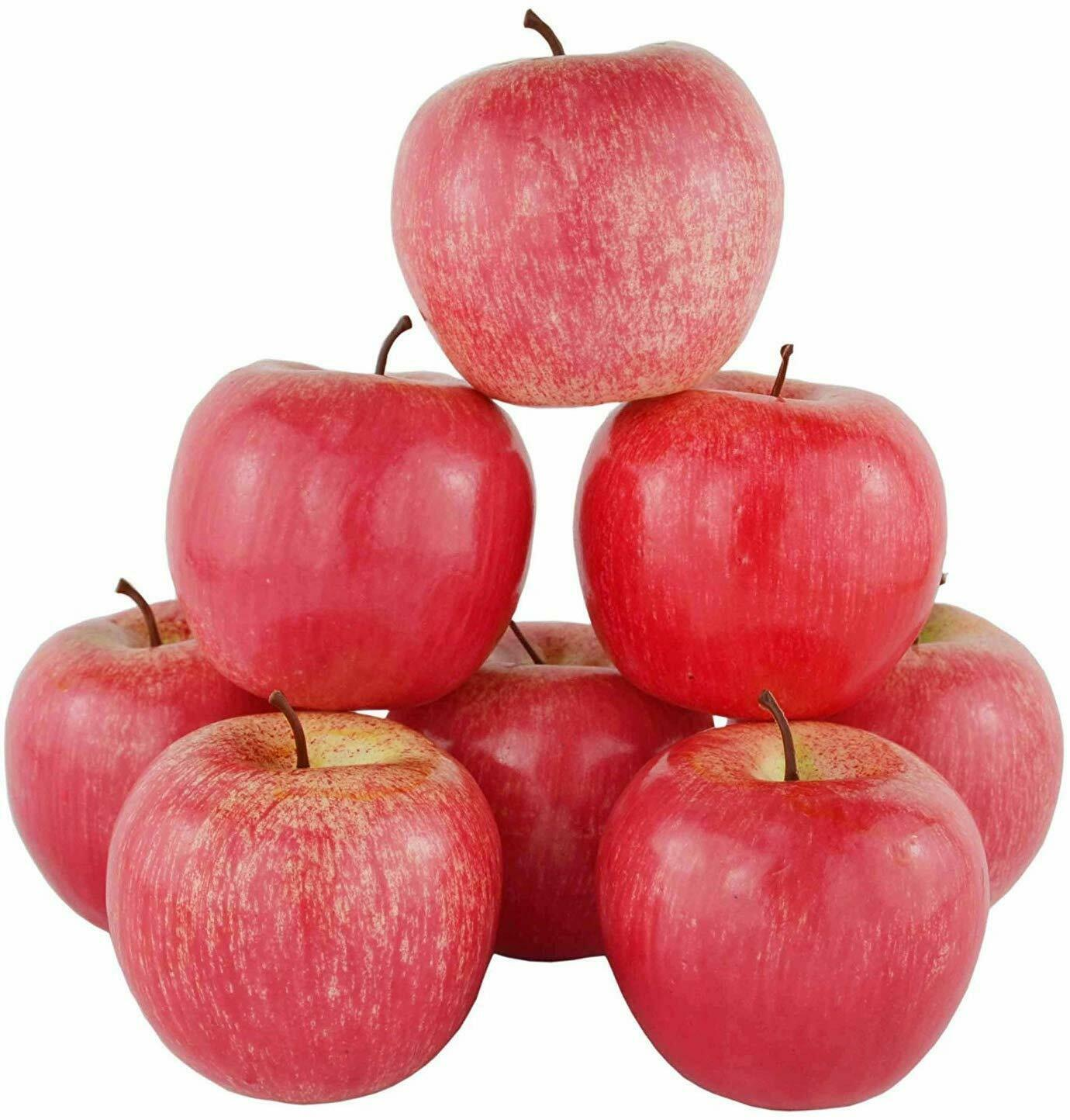 Coherny Artificial Apples Plastic Fruit Green Red Apple Wedding Decoration Store Display Fake Fruit Teaching Props Fruits Christmas Decoration Prop