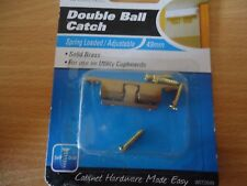 DOUBLE BALL CATCH Prestige Solid Brass 43mm Adjustable Spring Loaded