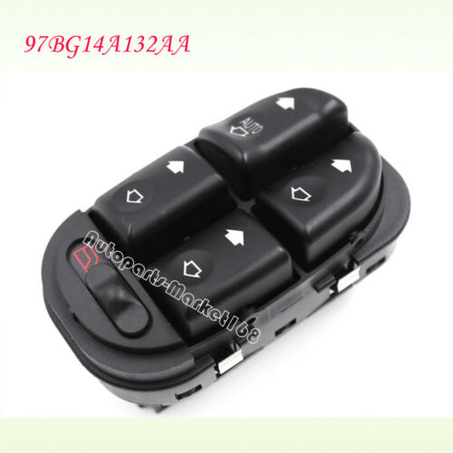 97BG14A132AA Fit Ford Mondeo Mk2 1997-2001 Power Window Main Control Switch LHD