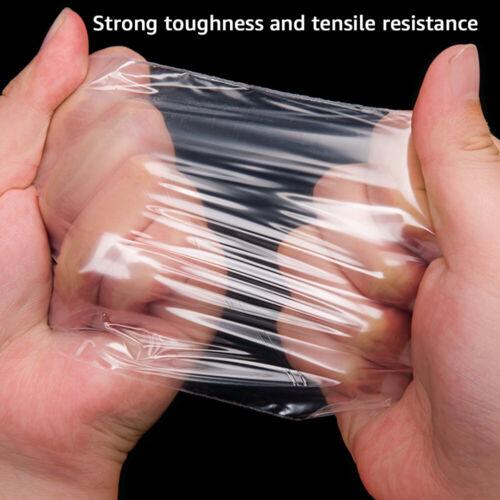 100Pcs Resealable Recloseable Self Adhesive Bags Lip Tape Clear Poly Plastic Bag