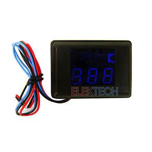 Stinger-SVMB-Voltmeter-3-Digit-Blue-LED-Voltage-Display-Gauge-Voltage-Meter-NEW
