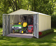 Arrow Commander Galvanized Steel Shed  10' W x 20' L With 8' Wide Swing doors