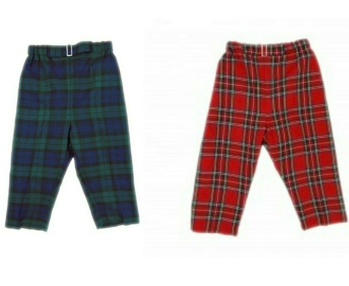 Soft and Cute Children's Traditional Scottish Tartan Trousers Design New