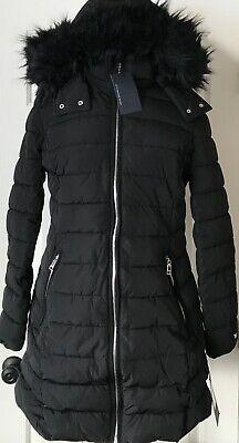 Long Black Parka With Fur Hood