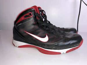 22a8fd683c3f60 Nike Hyperize Men Sneakers 367173-012 Black Red High Top Basketball ...