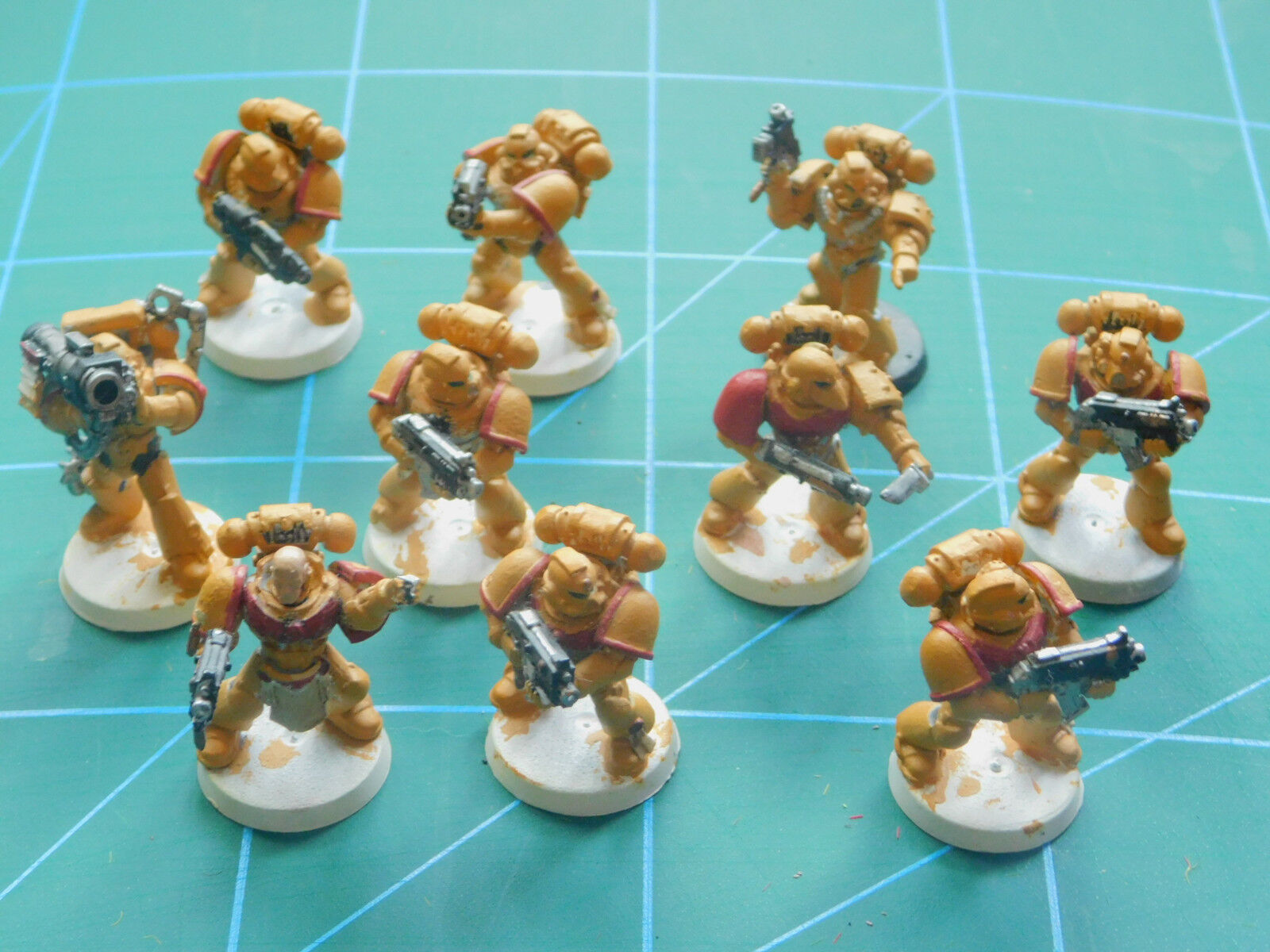 10 WARHAMMER  40k Dungeons Dragons spazio MARINE Dipinto cifra in plastica  ecco l'ultimo