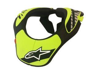 ALPINESTARS KIDS YOUTH NECK SUPPORT BLACK YELLOW BRACE MOTOCROSS MX BMX MTB NEW