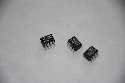 LOT OF 3 LINEAR TECHNOLOGY LTC1046 CN8 8-DIP INTEGRATED CIRCUIT NEW